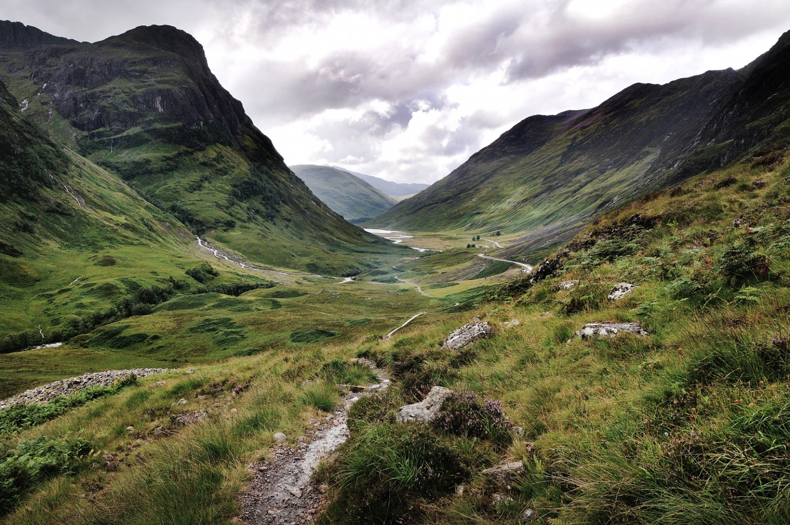 looking down Glencoe, Highlands of Scotland